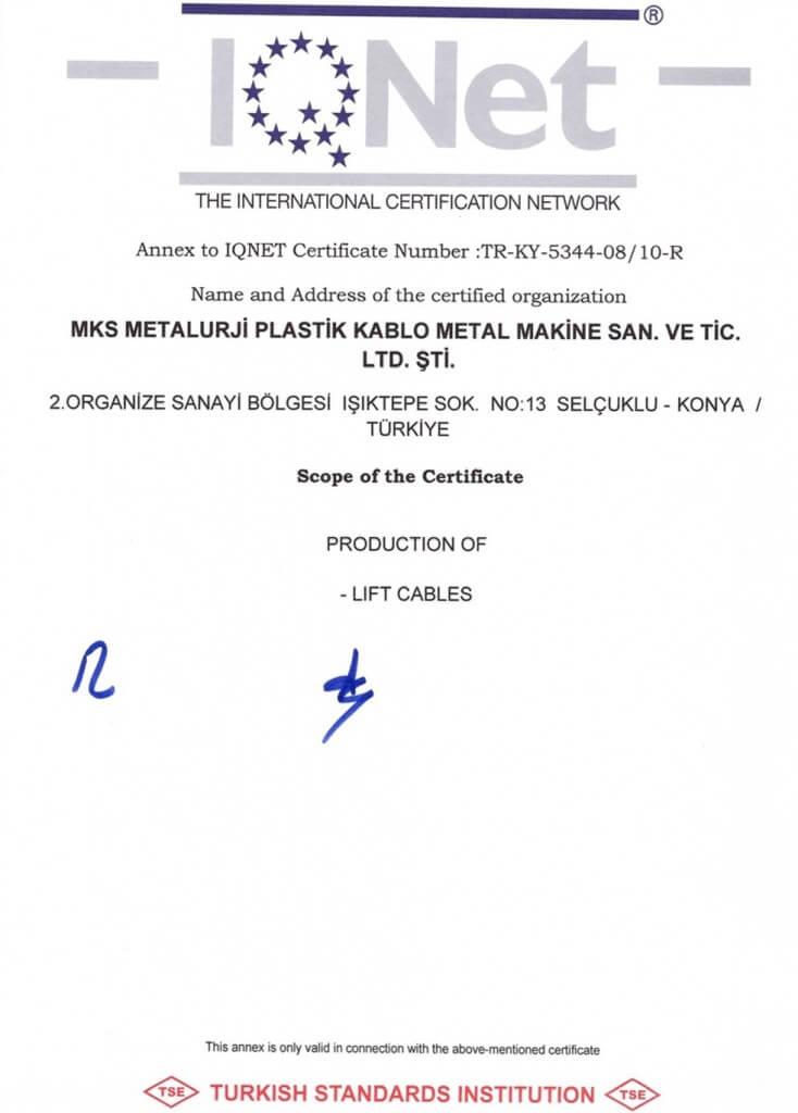 IQ NET TSE EN ISO 9001-2