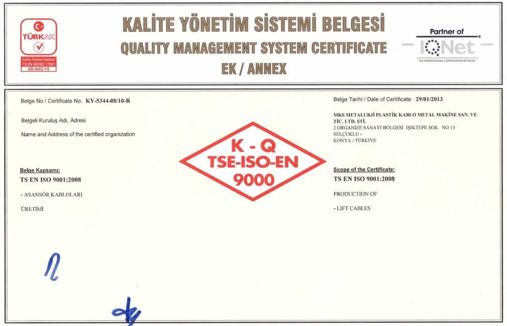 TSE ISO 9001-2