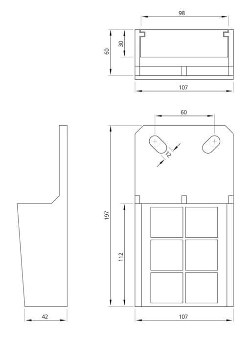 Yassı Asansör Kablo Takozu Teknik Çizim